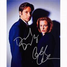 Autografo David Duchovny & Gillian Anderson - The X-Files Foto 20x25