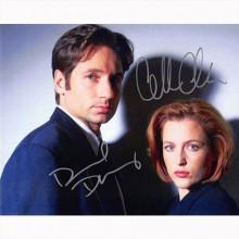 Autografo David Duchovny & Gillian Anderson - The X-FilesFoto 20x25