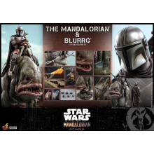 PREORDINE HOT TOYS Star Wars The Mandalorian Action Figure 2-Pack 1/6 The Mandalorian & Blurrg 37 cm