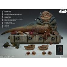 Star Wars Episode VI Action Figure 1/6 Jabba the Hutt & Throne Deluxe 34 cm