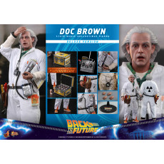PREORDINE Hot Toys MMS 610 Back To The Future – Doc Brown Deluxe