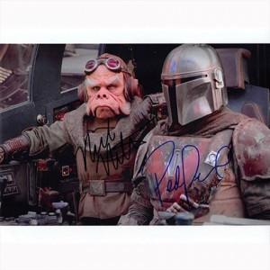 Autografo Pedro Pascal & Nick Nolte - The Mandalorian Foto 20x25