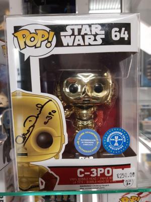 Autografo Anthony Daniels Funko Pop! Star Wars C-3PO #64
