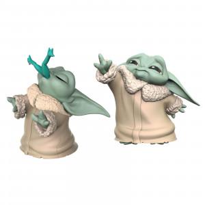 "Hasbro Star Wars: The Mandalorian Baby Bounties ""Frog and Force"" Mini Figures Set 2 pezzi"