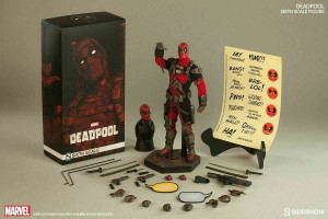 """DEADPOOL SIXTH SCALE FIGURE MARVEL 1/6 Action Doll 12"""" Sideshow"""
