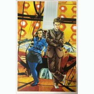 "Litografia ""Doctor Who: The Tenth Doctor Cover #4 November 2014"" autografata da Elena Casagrande."