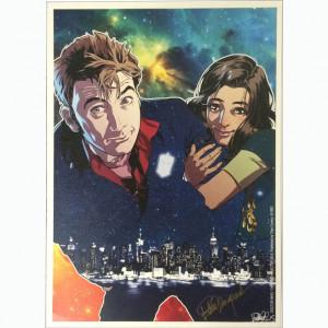 "Litografia ""Doctor Who: The Tenth Doctor 2015"" Cover autografata da Elena Casagrande"