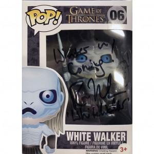 Funko Pop!  Game of Thrones White Walker autografo da Ross Mullan