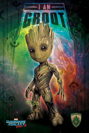 Poster Guardiani della Galassia Vol. 2 (I Am Groot - Space)