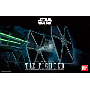STAR Wars BANDAI STAR WARS 1/72 Tie Fighter MODEL KIT