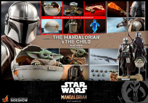 PREORDINE HOT TOYS TMS 15 Star Wars The Mandalorian Action Figure 2-Pack 1/6 The Mandalorian & The Child Deluxe 30 cm